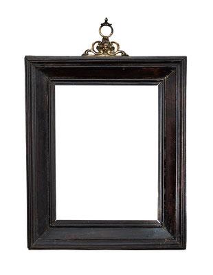 0512  Kabinett Rahmen, 16./ 17.Jh., Ebenholz furniert, 17 x 12,8 x 3,5 cm