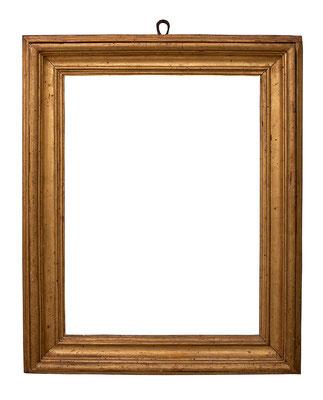 7743 Salvator Rosa Rahmen, Rom 17.Jh., Pappelholz vergoldet, 50 x37 x 8 cm