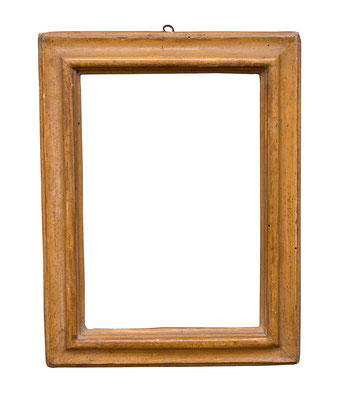 0503  Profil Rahmen, Marken 17./18.Jh., Pappelholz ocker gefasst, 22 x 15,2 x 3,6 cm