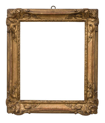 2239 Louis XV Rahmen, Eiche geschnitzt und vergoldet, 36,5 x 29,5 x 6,5 cm
