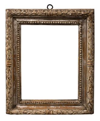 1004  Rahmen, Rom 17.Jh., Pappelholz geschnitzt und versilbert, 19,5 x 14,7 x 4,4cm
