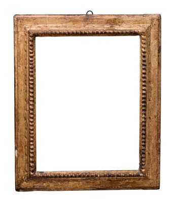 0961  Kassettenrahmen, Emilia Romagna, 17.Jh., Pappelholz geschnitzt und vergoldet, 41,2 x 31 x 6,7 cm