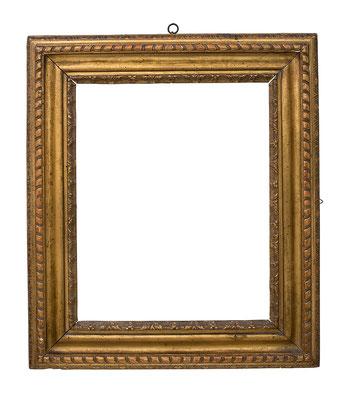7751 Louis XV Rahmen, Linde geschnitzt und vergoldet, 51 x 40,3 x 10,5 cm