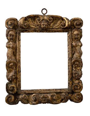 9169  Sansovino Rahmen, Veneto 16./17.Jh., geschnitzt und vergoldet, 28,5 x 23,8 x 7 cm