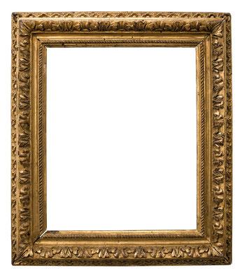 2228  Louis XIII Rahmen, Linde geschnitzt und vergoldet, 19,5 x 16 x 4 cm
