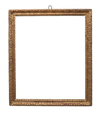 0906  Louis XIII Rahmen, Eiche geschnitzt und vergoldet, 66,5 x 55,3 x 5,3 cm