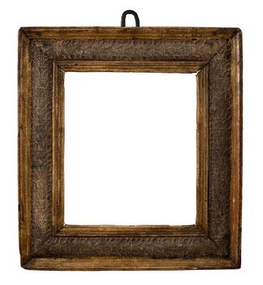 7809  Kassettenrahmen, Venedig Ende 15.Jh., Pastiglia vergoldet, 24 x 20,5 x 7 cm
