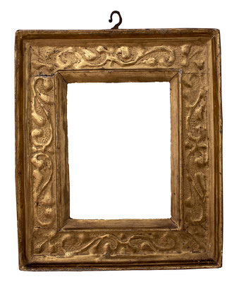 7772  Kassettenrahmen, Piemont 15./16.Jh., vergoldetet, 14 x 10,7 x 5,3 cm