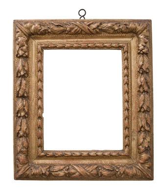 2255  Louis XIII Rahmen, Linde geschnitzt und vergoldet, 24,3 x 19 x 7,5 cm