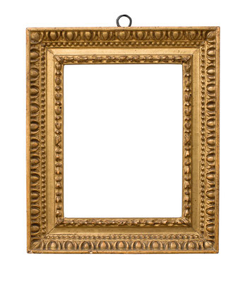1056  Rahmen, Piemont 18.Jh., Lindenholz geschnitzt und vergoldet, 14,5 x 11 x 3,5 cm
