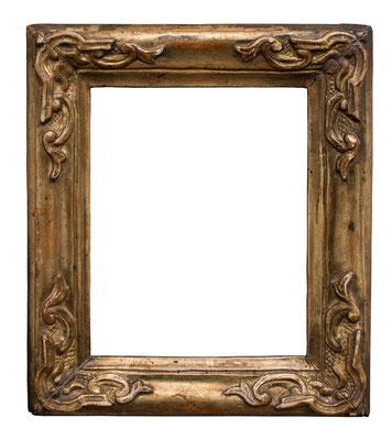 0519  Rahmen, Venedig 18.Jh., Pappelholz geschnitzt und vergoldet, 15,5 x 12 x 3,8 cm
