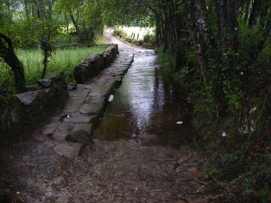 Le chemin est humide