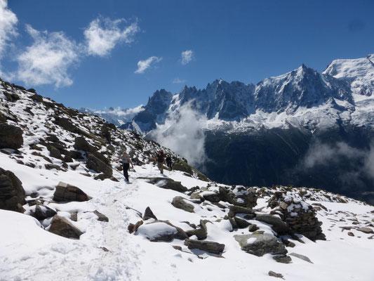 Vue du Col de Brevent sur la Haute Vallée de la Diosaz