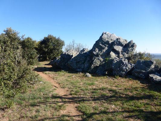 Des grosses pierres sur un bon 500m