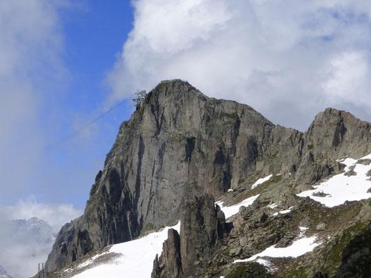 Le sommet du Brevent et son téléphérique