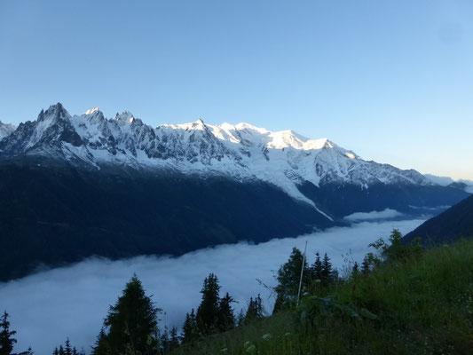 En dessous des nuages, Chamonix