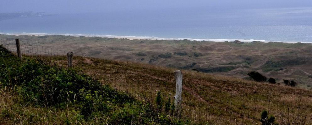 Une vue magnifique sur les dunes deBiville