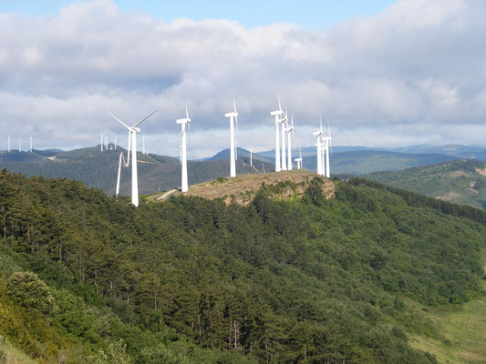 Beaucoup d'éoliennes en Espagne