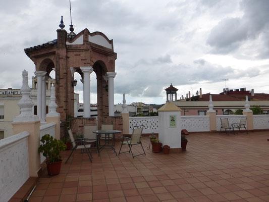 La terrase de l'albergue de peregrinos de Zafra