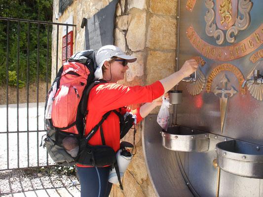 Le fontaine à vin à Irache