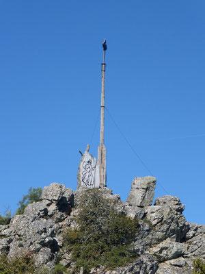 Le sommet et la Crus de Santiago