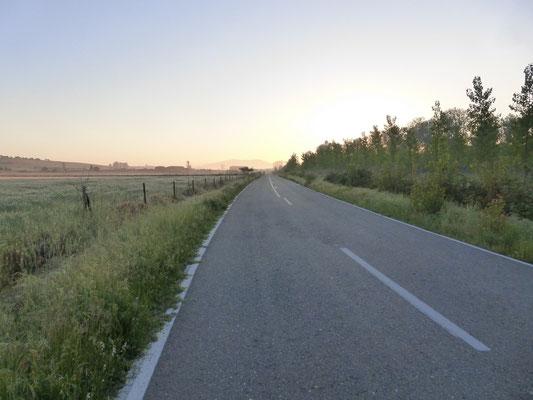 La route pendant 12 km