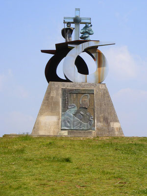 Le monument pour la venue de Jean Paul II