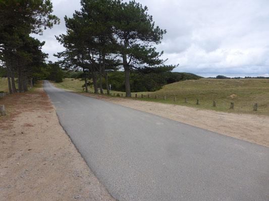 Petite route pendant 600m