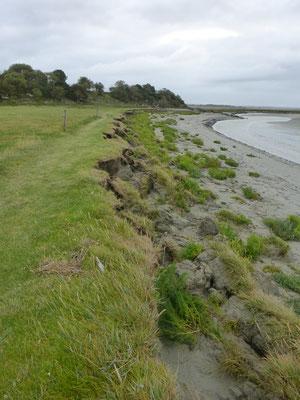 L'érosion aprés de fortes marées