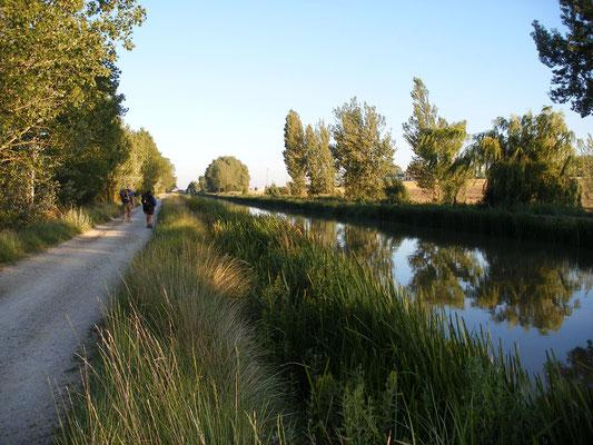 Le camino suit le canal