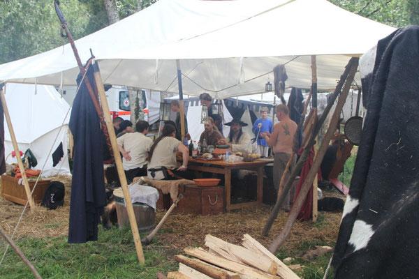 In Piding ist das Lager schon ordentlich gewachsen
