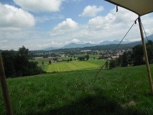 Der Ausblick aus unserem Lager