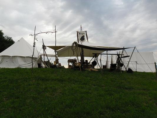Unser Lager vor dem Unwetter