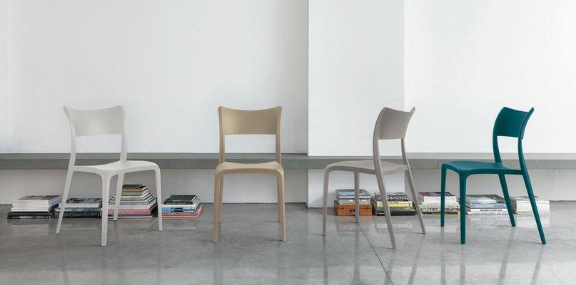 Sedia in polipropilene, colori a scelta (articolo CR50)