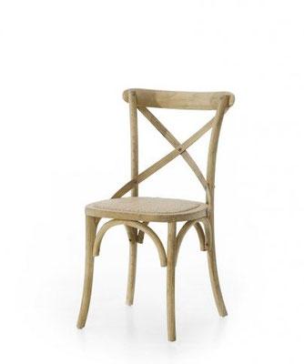 Sedia in legno naturale (articolo 56087)