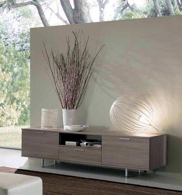 Articolo IR13 - Mobile porta-tv (Larghezza cm.180,5, Profondità cm.45, Altezza cm.52) finiture e colori a scelta, realizzabile anche su misura