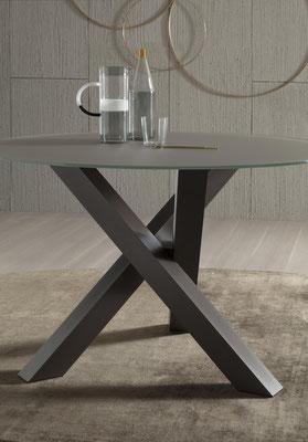 Tavolo rotondo fisso (articolo FR34), disponibile in diverse misure e materiali