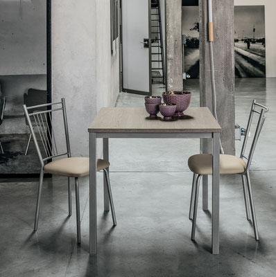 Tavolo ARLES, fisso - Misure: cm.115x80 oppure cm.85x80, realizzabile anche su misura