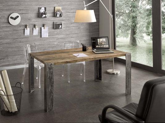 Articolo PT 0045 - Tavolo in legno naturale, disponibile su misura, anche allungabile