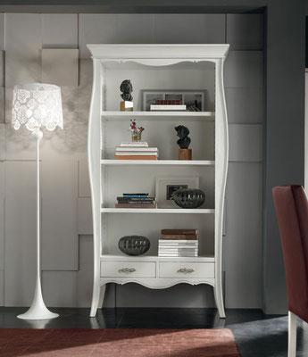Articolo 53099 - Libreria con 2 cassetti - Larghezza cm.106, Profondità cm.47, Altezza cm.204