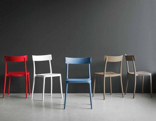 Sedia in poliproprilene, colori a scelta (articolo AV8)