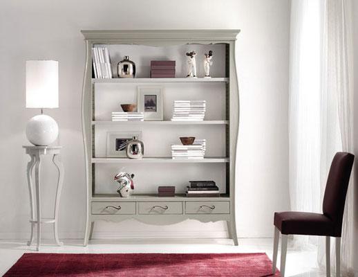 Articolo 53097 - Libreria con 3 cassetti - Larghezza cm.151, Profondità cm.47, Altezza cm.204