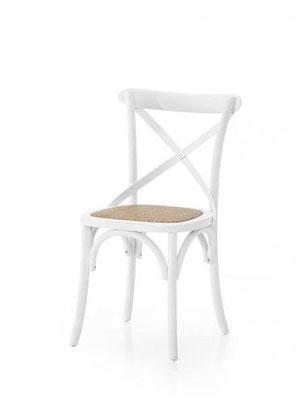 Sedia in legno naturale laccato (articolo 56086)