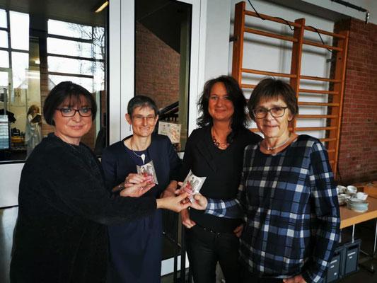 FU-Kreisvorsitzende Adelheid Seifert, FU-Vorsitzende Petra Döhla, Beate Nijkamp und Petra Mahr