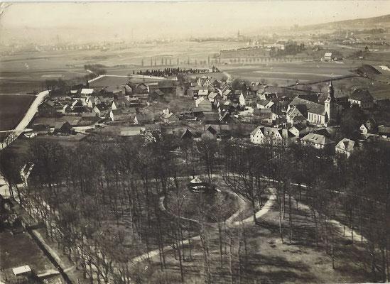 Luftaufnahme (von Osten) - vermutlich um 1940, verschickt 1944