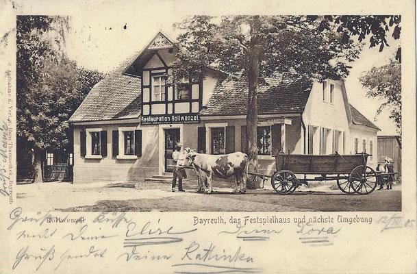 Rollwenzelei - um 1900, verschickt 1905