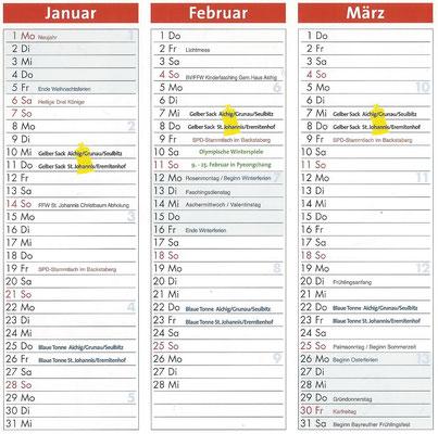 Januar, Februar, März 2018