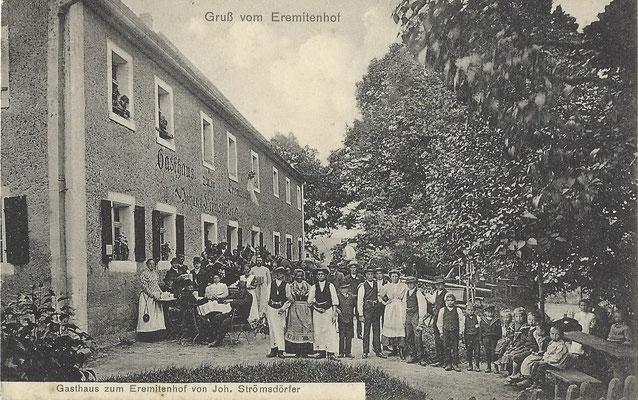 """jetziges Gasthaus """"Eremitenhof"""" - vermutlich vor 1930, verschickt 1933"""