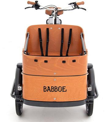 Babboe Lastenfahrrad mit Elektromotor Curve-E mit Platz für zwei Kinder