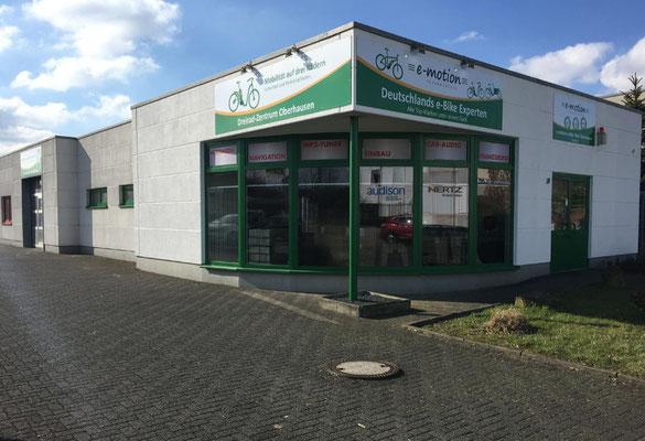 Die e-motion e-Bike Welt in Oberhausen führt auch Riese & Müller e-Bikes